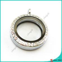 Горный хрусталь круглый 25 мм с плавающей медальон ювелирные изделия (FL16041939)