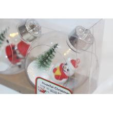 Boule de Noël ornements en verre de Noël