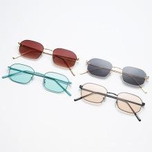 Новые модные солнцезащитные очки в маленькой оправе с многоугольником, солнцезащитные очки из металла европейского и американского тренда, солнцезащитные очки в уличном стиле s21039