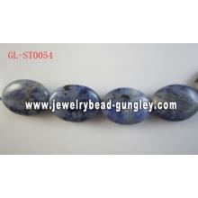 Натуральный камень содалит бисер