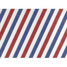 Rot/Navy Streifen komfortablen Polyester Baumwolle T-Shirt Stoff