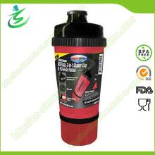700ml BPA Free Shaker Flasche mit Aufbewahrung, Protein Shaker