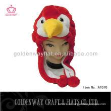 Roter Vogel-Winter-Hut Neuer Entwurf