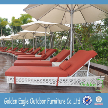 Outdoor Living Pool side Rattan Chaise Lounge