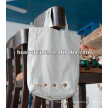 Sac de coton promotionnel et sac à provisions en coton et sac à bandoulière en coton