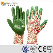 SONNYHOPE 13Gauge Gummi Garten Handschuhe