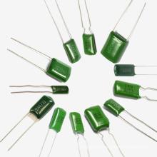 Оптовая Фабрика Topmay Зеленый Полиэстер Пленочный Конденсатор Cl11 Tmcf01