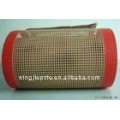 teflon/PTFE coated fiberglass open mesh conveyor belt