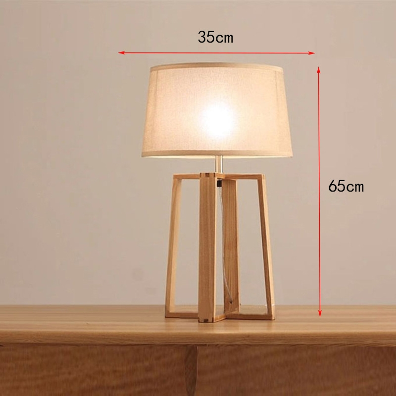 Tall Table Wooden Lamp