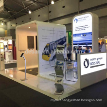 Detian offer wood material exhibition booth stand with lighting box back drop stand for Australia show