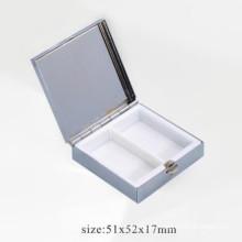 2 unidades insertan la mini caja cosmética de la píldora del metal (BOX-23)