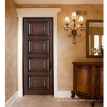 Finished Solid Mahogany Wood Interior Door in a Custom Stain