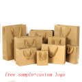High quality certification customized brown kraft paper shopping bag
