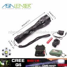 Q5 / 5W-1200 lúmenes, antorcha táctica recargable del LED