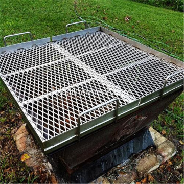 BBQ Grill Stainless Steel Mesh Logam Diperluas