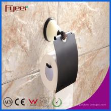 Fyeer Ceramic Base Black Accesorio para baño Papel higiénico Roll Holder