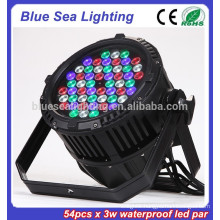 Factory price 54pcs x 3w led stage light disco equipment waterproof led par can