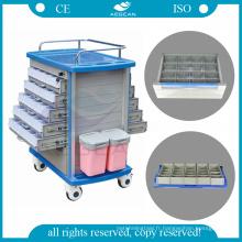 Chariot pour instruments médicaux AG-MT011A1 Chariot pour instruments médicaux avec tiroirs