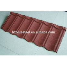 Color Stone Coated Steel Roofing Tile Sheet With Best Price And Long life , Stone Coated Step Tile Roofing Sheet Price