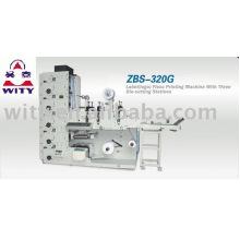 ZBS-320G Label Flexo Printing Machine (three die cutting station,first level)