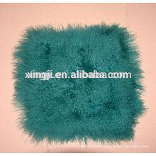 teñido de color verde mongol de piel de cordero cubre