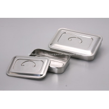Medical Stainless Steel  Disinfectant Square Dish Rack With Lid And Without Holes