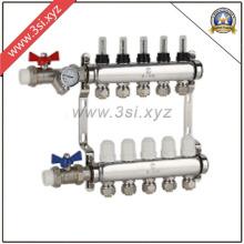 Separador de água de aquecimento de piso com válvulas (YZF-M804)