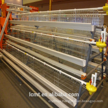 Stepped type A layer chicken cage with automatic cleaning system