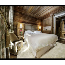 Edredão branca tecida do hotel do poliéster do poliéster do algodão de 80% 80%