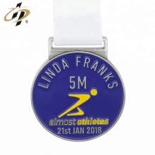 Personnalisé propre médaille de sport de marathon de conception avec ruban