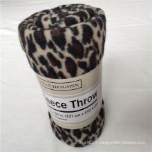 Couverture en molleton polaire imprimé guépard