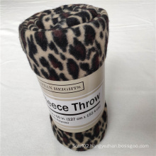 Cheetah Printed Polar Fleece Throw Blanket