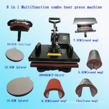 8 in 1 Multifunction Combo Heat Press Machine Multifunction Combo Heat Transfer Machine T-Shirt Printing Machine Stc-SD08