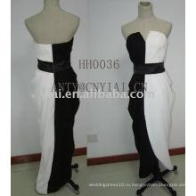 2011 новый дизайн черный и белый вечернее платье HH0036