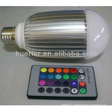 Manufacturer offer with CE RoHS E27 100-240v rgb 10w bulb