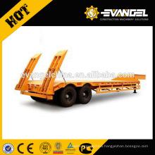 Engineering & Construction machines transport low loader trailer 60 - 80 ton lowboy trailer for sale