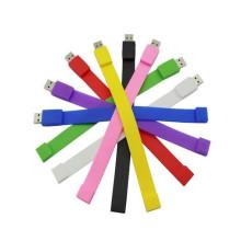 pulseira de pulseira de borracha de silicone com pen drive