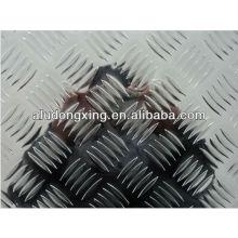 Placa de aluminio de cinco barras