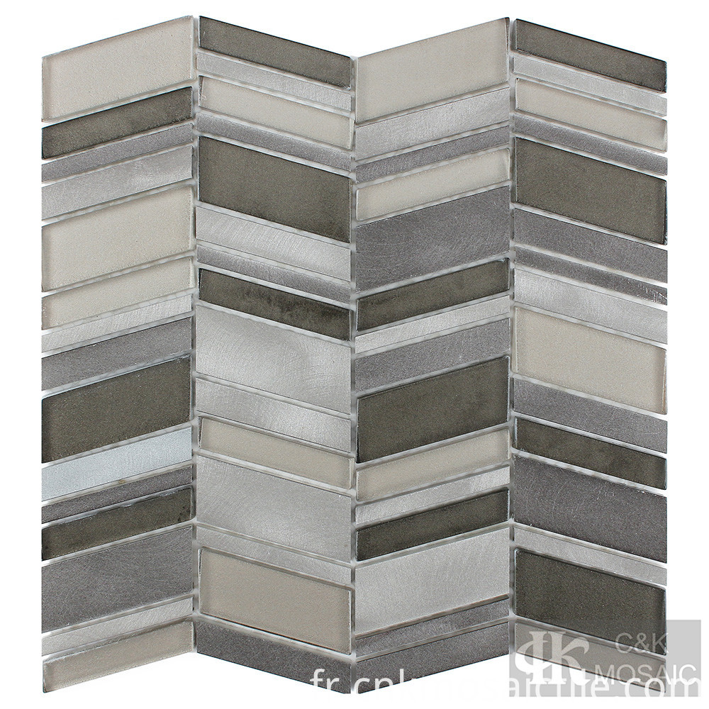 Metallic Mosaic Tile Backsplash