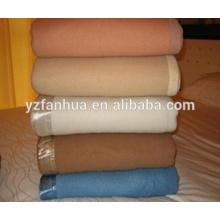 Stocked Khaki Wool Fiber Hotel and Military used blankets Wholesale