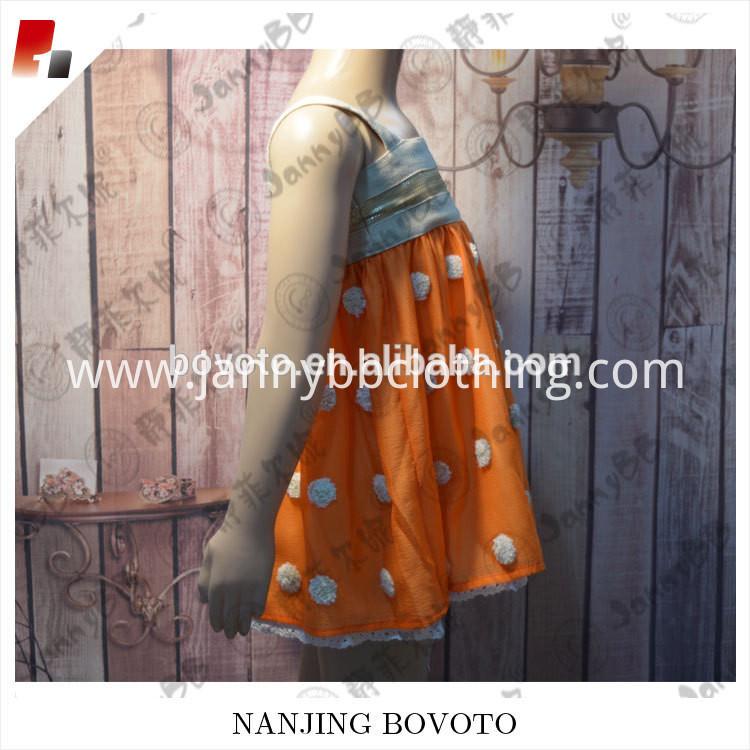 orange dots dress01
