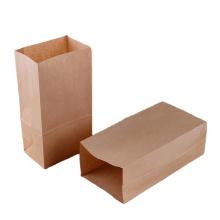 Low cost biodegradable recycled brown kraft paper custom food packaging bag