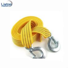 Sangle de remorquage de corde de remorquage de 3 tonnes avec des crochets