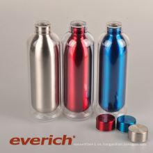 Botella de agua promocional a prueba de sudor de acero inoxidable