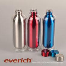 Непромокаемая пластиковая бутылка из нержавеющей стали