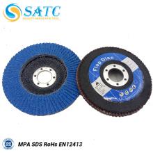 Disco de aleta de alúmina zirconia SATC para metal y aleaciones con alta eficiencia