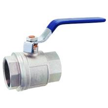 Válvula de bola de latón F / F pn25, válvula de bola de latón J2001, cromo / niquelado