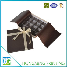 Luxury Silk Ribbon Paper Gift Boxes for Chocolate