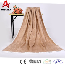 100% polyester quilting seam micromink sherpa throw blanket