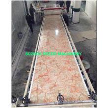 Équipement décoratif de marbre artificiel de PVC faisant la machine